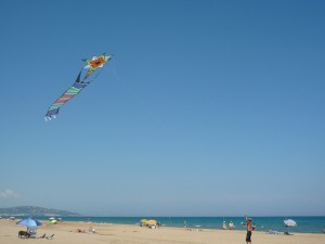 Kilometres of sandy beach runs from Cap d'Agde to Sete along the Mediterranean coast
