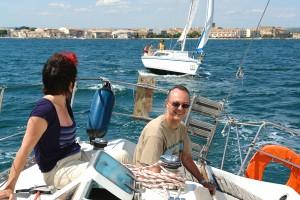 Marseillan sailing on the Etang de Thau with the Atouvents sailing group